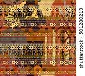 batik. abstract art colorful... | Shutterstock .eps vector #501280213