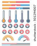 set of different indicators  ... | Shutterstock .eps vector #501294007