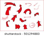 red arrows in the style of a... | Shutterstock .eps vector #501294883
