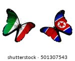 concept   two butterflies with... | Shutterstock . vector #501307543