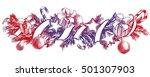 christmas background with fir... | Shutterstock .eps vector #501307903