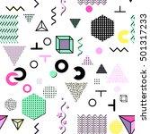 trendy geometric elements... | Shutterstock . vector #501317233