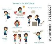 infographics of office woman... | Shutterstock .eps vector #501323227