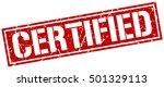 certified. grunge vintage... | Shutterstock .eps vector #501329113