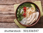 vietnamese soup pho ga with... | Shutterstock . vector #501336547
