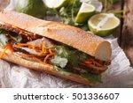 vietnamese sandwich with... | Shutterstock . vector #501336607