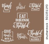 set of quote typographical... | Shutterstock .eps vector #501351193