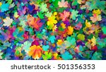 colorful autumn leaves autumn... | Shutterstock . vector #501356353