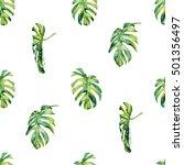 seamless watercolor... | Shutterstock . vector #501356497
