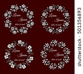 vector set of floral round... | Shutterstock .eps vector #501356893