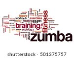 zumba word cloud concept | Shutterstock . vector #501375757