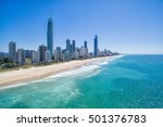 surfers paradise skyline aerial | Shutterstock . vector #501376783
