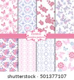 collection of seamless pattern... | Shutterstock .eps vector #501377107