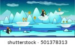 2d game background of icebergs. ...