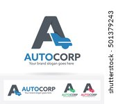 letter a and a car shape ogo.... | Shutterstock .eps vector #501379243