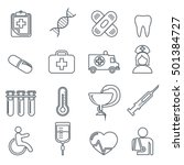 medical icons thin line icons... | Shutterstock .eps vector #501384727