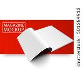 blank magazine mockup template. ... | Shutterstock .eps vector #501384913