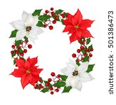 christmas wreath  garland.... | Shutterstock . vector #501386473