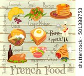 french food menu card with...   Shutterstock .eps vector #501388753