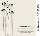 vector flower background | Shutterstock .eps vector #50139388