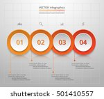 infographics step by step.... | Shutterstock .eps vector #501410557