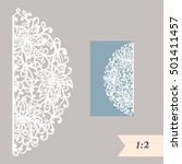 wedding invitation or greeting... | Shutterstock .eps vector #501411457
