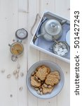 Maple Leaf Shaped Cookies With...