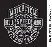 motorcycle racing typography  t ... | Shutterstock .eps vector #501428797