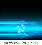 future technology  blue light... | Shutterstock .eps vector #501429397