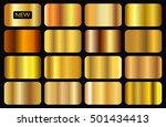 vector set of gold gradients... | Shutterstock .eps vector #501434413