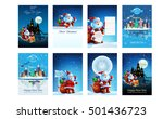 set of vector new year stock... | Shutterstock .eps vector #501436723