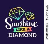 sunshine like a diamond  ... | Shutterstock .eps vector #501441637