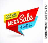 one day mega sale banner ... | Shutterstock .eps vector #501442147