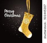 merry christmas card. vector... | Shutterstock .eps vector #501445207