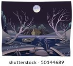 pond in the night. funny...   Shutterstock .eps vector #50144689