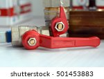 Water Valve With Red Handle....
