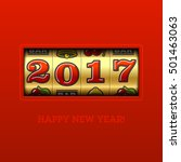 happy new year 2017 greeting... | Shutterstock .eps vector #501463063
