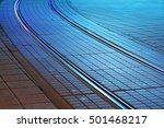 tramway rails at night | Shutterstock . vector #501468217