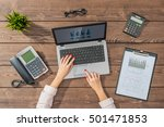 business woman working in office | Shutterstock . vector #501471853