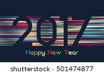 happy new year 2017 background. ... | Shutterstock .eps vector #501474877