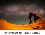 the milky way above delicate... | Shutterstock . vector #501485887