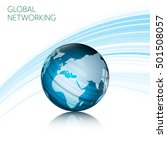 abstract global networking... | Shutterstock .eps vector #501508057
