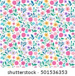 cute floral pattern in the... | Shutterstock .eps vector #501536353