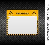 warning banner on carbon... | Shutterstock .eps vector #501537613