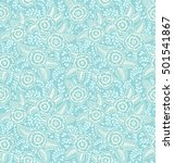 seamless pattern with flowers...   Shutterstock .eps vector #501541867
