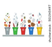 recycling  waste management  ... | Shutterstock .eps vector #501545497