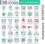 vector seo and development... | Shutterstock .eps vector #501555727