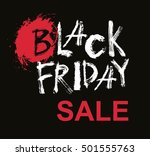 black friday sale handmade... | Shutterstock .eps vector #501555763