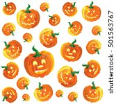 texture with pumpkins | Shutterstock .eps vector #501563767