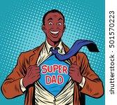 african american joyful super... | Shutterstock .eps vector #501570223